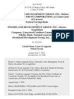 In Re Swedeland Development Group, Inc., Debtor. The Resolution Trust Corporation, as Conservator of Carteret Federal Savings Bank v. Swedeland Development Group, Inc. Haylex Acquisition Company Unsecured Creditors Committee First Fidelity Bank, National Association. Swedeland Development Group, Inc., 16 F.3d 552, 1st Cir. (1994)