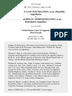Conservation Law Foundation v. Federal Highway Administration, 24 F.3d 1465, 1st Cir. (1994)