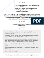 Capital Concepts Properties 85-1, a California Limited Partnership, on Its Own Behalf and as Liquidating Trustee for Corporate I, Ltd. v. Mutual First, Inc., Resolution Trust Corporation, as Receiver for Sunbelt Savings, Fsb and the Federal Deposit Insurance Corporation, Receiver for Sunbelt Savings Association of Texas, 35 F.3d 170, 1st Cir. (1994)