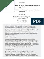 City of Portsmouth New Hampshire v. Richard Schlesinger and William Weinstein, 57 F.3d 12, 1st Cir. (1995)