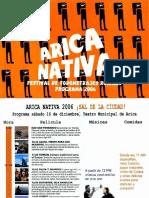 Catalogo Festival Arica Nativa 2006