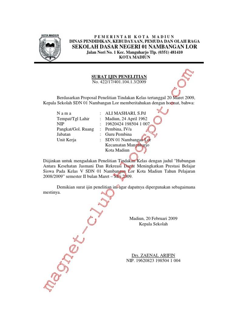 Contoh Surat Keterangan Penelitian Skripsi Dari Perusahaan Aneka
