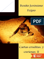 Cartas Eruditas, y Curiosas II - Benito Jeronimo Feijoo