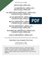 United States v. Nai Fook Li, United States v. Yiu Ming Kwan, United States v. Ju Lin, United States v. Ben Lin, United States v. Hui Lin, United States v. Mao Bing Mu, United States v. Sang Li, 206 F.3d 56, 1st Cir. (2000)