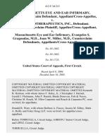 Massachusetts Eye and Ear Infirmary, Plaintiff/counterclaim Appellant/cross-Appellee v. Qlt Phototherapeutics, Inc., Qlt, Inc., Counterclaim Appellee/cross-Appellant v. Massachusetts Eye and Ear Infirmary, Evangelos S. Gragoudas, M.D., Joan W. Miller, M.D., Counterclaim Appellants/cross-Appellees, 412 F.3d 215, 1st Cir. (2005)