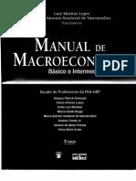 Manual de Macroeconomia Usp Lopes e Vasconcellos