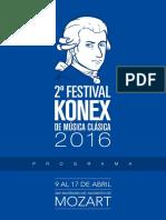 Programa de Mano 2º Festival Konex de Música Clásica - Mozart