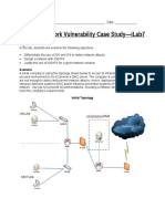 SEC450 W7 ILab SEC450 W7 Network Vulnerability Case Study Instructions