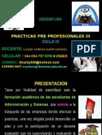 Practicas Pre Profesionales III Clases 2016