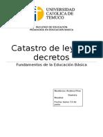 Leyes y Decretos en La Educación Chilena