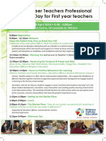 2016 first year ect  professional learning day flyer