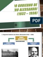 Segundo Gobierno de Arturo Alessandri (1932 – 1938)
