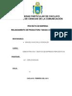 Proyecto de Empresa Productora Mahag Comunicaciones
