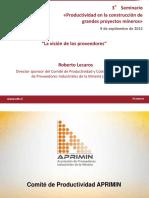 La Vision de Los Proveedores Roberto Lecaros APRIMIN