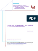 Analisis de La Politica Economica Actual Neoinstitucionalismo (1)