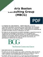 Matriz Boston Consulting Group MBCG