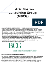 Matriz Boston Consulting Group MBCG