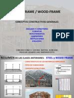 steel frame y wood frame