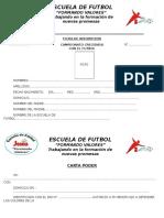 Formato de inscripcion Escuela de Futbol