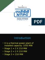 NTPC Industrial Training Presentation