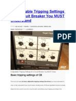 6 Adjustable Tripping Settings of a Circuit Breaker You MUST Understand
