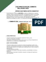 proceso del cemento sol, atlas y apu