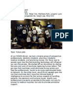 KOSEN Dinner Report 2015