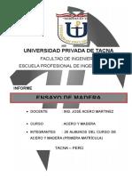 Informe de Ensayo de Madera