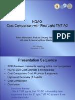 NFIRAOS Cost Comparison