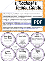 Brain Break Cards Ideas