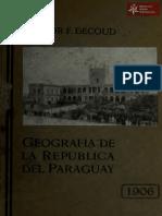 Geografía de la República del Paraguay de Hector F. Decoud año 1906