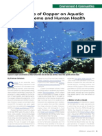 Impacts of Copper on Aquatic Ecosystems and Human Health