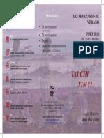 Folleto Seminario Tai Chi Xin Yi Poio 2016