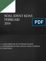 Soal Ident radiologi