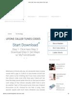Ufone Caller Tunes Codes _ Ufone UTune Codes