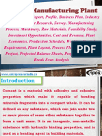 Cement Manufacturing Plant, Detailed Project Report, Profile, Business Plan, Industry Trends, Market Research, Survey, Manufacturing Process, Machinery, Raw Materials, Feasibility Study, Investment Opportunities, Cost and Revenue, Plant Economics, Production Schedule, Working Capital Requirement, Plant Layout, Process Flow Sheet, Cost of Project, Projected Balance Sheets, Profitability Ratios, Break Even Analysis