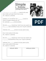 Beatles Past Simple