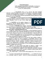 Not Informativ Cu Privire La Cauzele in Procedur de Ordonana