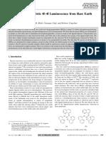Obtaining Characteristic 4f–4f Luminescence From Rare Earth Organic Chelates