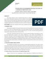 STATIC MAGNETIC FIELD INFLUENCE ON PONDEROMOTIVE SELF FOCUSING OF LASER BEAM THROUGH PLASMA