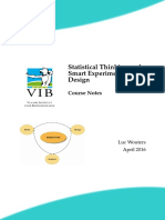 Statistical Thinking and Smart Experimental Design 2016