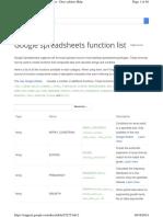Googlespreadsheet Function List