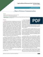 Six Million Ways of Science Communication