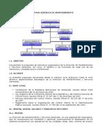 Estructura Organizativa Gerencia de Mantenimiento
