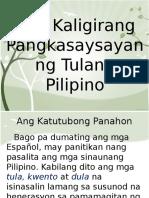 Ang Kaligirang Pang Kasaysayan Ng Tulang Pilipino