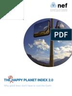 Happy Planet Index 2 0