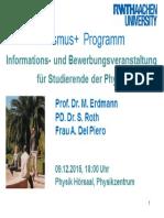 Erasmus Infoveranstaltung 2015