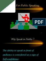 Tips for Public Speaking