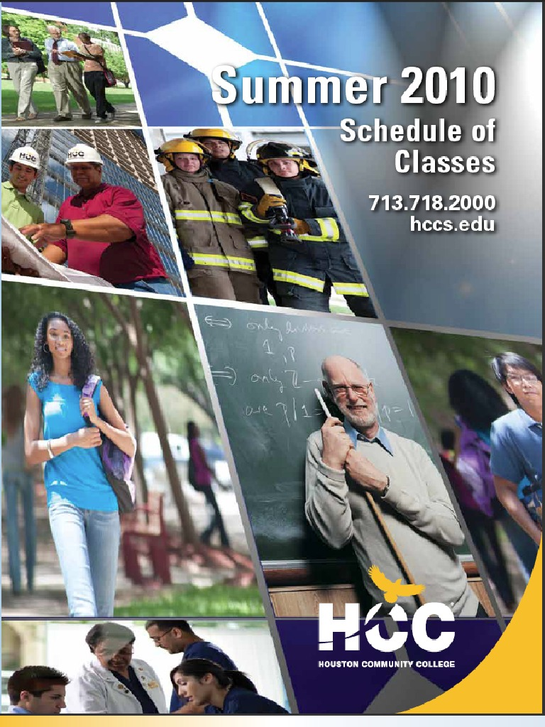 HCC Summer Credit Schedule   University And College Admission ...