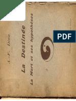 Dina AF La Mort Destinee 1927 Paris Felix Alcan